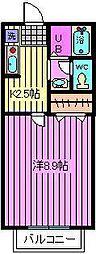 リリ弐番館[2階]の間取り