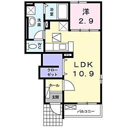 ジュアン S II[1階]の間取り