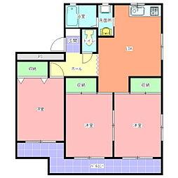 新原マンション[101号室]の間取り