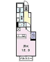 プラシード・II[102号室]の間取り