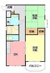 アドニスマンション[103号室]の間取り
