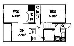 ルヴォワール富士見[2階]の間取り