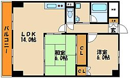 ロイヤルメゾンアドニス[3階]の間取り