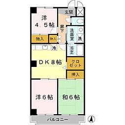 メゾン・ド・モンテアン[3階]の間取り