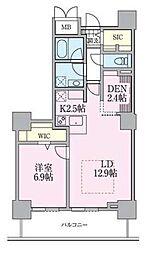 JR常磐線 南千住駅 徒歩5分の賃貸マンション 23階1SLDKの間取り