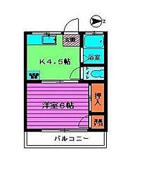 東京都練馬区関町東1丁目の賃貸アパートの間取り