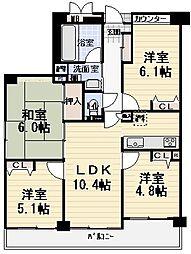 分譲賃貸マンション大拓メゾン[201号室]の間取り