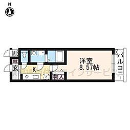 レジディア京都駅前[704号室]の間取り