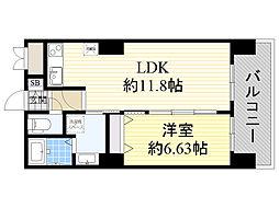 ノルデンタワー新大阪プレミアム 15階1LDKの間取り