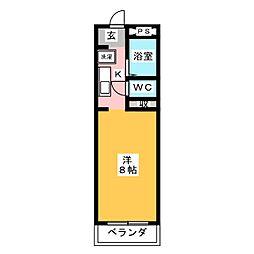 サンパレス怒田I[1階]の間取り