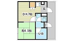 リーダーマンション[301号室]の間取り
