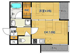仮)伏見桃山デザイナーズマンション[202号室]の間取り
