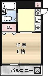 アメニティ寺町[206号室号室]の間取り