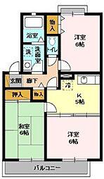 千葉県市川市中山4丁目の賃貸アパートの間取り