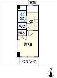 第3長岡マンション[1階]の間取り