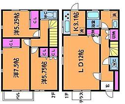 [テラスハウス] 東京都調布市緑ケ丘2丁目 の賃貸【/】の間取り
