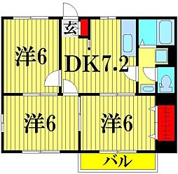 ニューシティ杉田NO2[102号室]の間取り