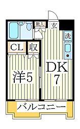 パレ・ドール柏[3階]の間取り