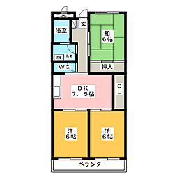 リンピアYAMADA[3階]の間取り