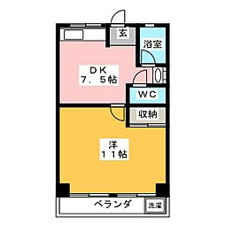 足立マンション[1階]の間取り