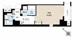 東京メトロ半蔵門線 水天宮前駅 徒歩7分の賃貸マンション 8階1Kの間取り