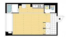 JR山陽本線 西川原駅 徒歩9分の賃貸アパート 2階1Kの間取り