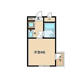 ダイドーメゾン立花西[407号室]の間取り
