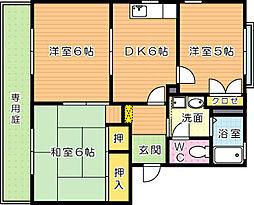 リバーサイドディアス A棟[1階]の間取り