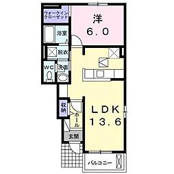 キー ミー ユ−[1階]の間取り