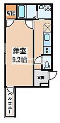 大阪府堺市堺区百舌鳥夕雲町1丁の賃貸アパートの間取り
