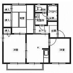 アベリア新家B[1階]の間取り