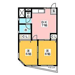 河合ビル[4階]の間取り