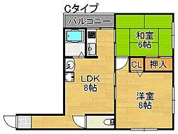 まつよしマンション[3階]の間取り