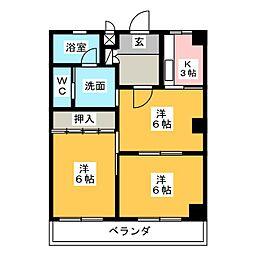 芙実乃郷I号館[2階]の間取り