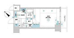 フェニックス横濱関内ベイガイア[4階]の間取り