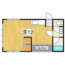 OKUDEN[4階]の間取り