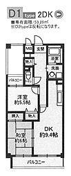 ユーコート武庫之荘[401号室]の間取り
