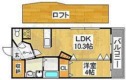 Lombardia[2階]の間取り