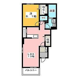 富士泉シティハウス[1階]の間取り