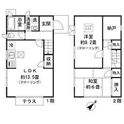 [テラスハウス] 東京都中野区野方1丁目 の賃貸【/】の間取り