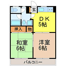 愛知県名古屋市昭和区曙町1丁目の賃貸マンションの間取り