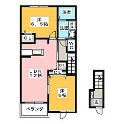 フェリーチェI[2階]の間取り