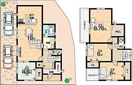 全居室南向き、南庭スペース