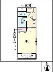 C'estsibonIII[2階]の間取り