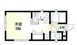 神奈川県横浜市中区上野町4丁目の賃貸アパートの間取り