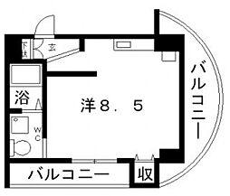 ルクレール鶴ヶ丘[9階]の間取り
