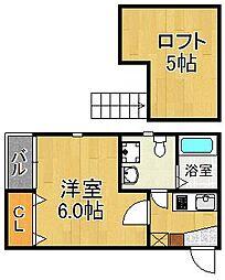 セントラルコート姪浜・初期費用約8万円・[102号室号室]の間取り