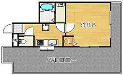 大阪府高槻市須賀町の賃貸マンションの間取り
