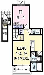 東京都立川市砂川町2丁目の賃貸アパートの間取り