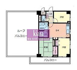 ライオンズマンション蒔田第3[4階]の間取り